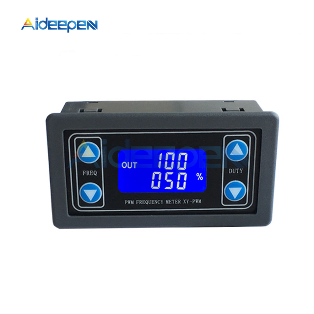 1Hz-150KHz PWM Pulse Frequency Duty Cycle Adjustable Module Square Wave Rectangular Wave Signal Generator LCD Display kwx03 square wave signal source frequency dutycycle adjustable 0 1hz 34khz digital display