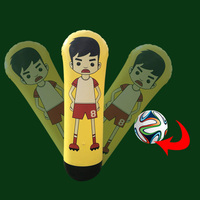 Newly 1.6m Inflatable Football Training Goal Keeper Column Stand Tumbler Soccer Train Dummy for Kid Adult BF88