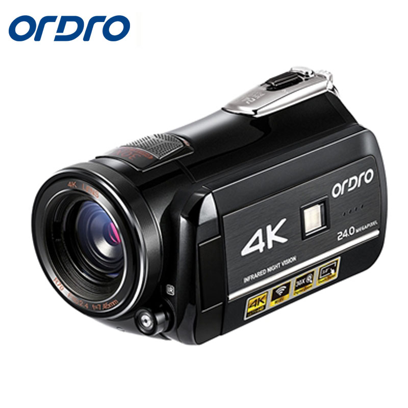 Ordro HDR-AC1 Digital Video Camera DVR 4K 120 FPS 720P support 0.39X Wide angel lens 5MP CMOS Max 24mp Resolution 3.0 inch mingdilin stiletto women s blue pumps high heels shoes plus size 43 wedding party woman shoes fashion pointed toe sexy pumps