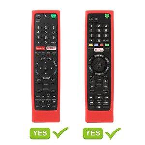 Image 3 - SIKAI etui silikonowe do SONY z pilotem RMF TX200 skóry do Sony OLED smart pilot do telewizora etui ochronne