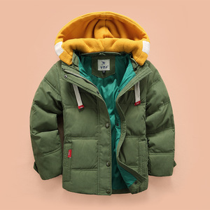 Image 3 - Abreeze children Down & Parkas 4 10T winter kids outerwear boys casual warm hooded jacket for boys solid boys warm coats