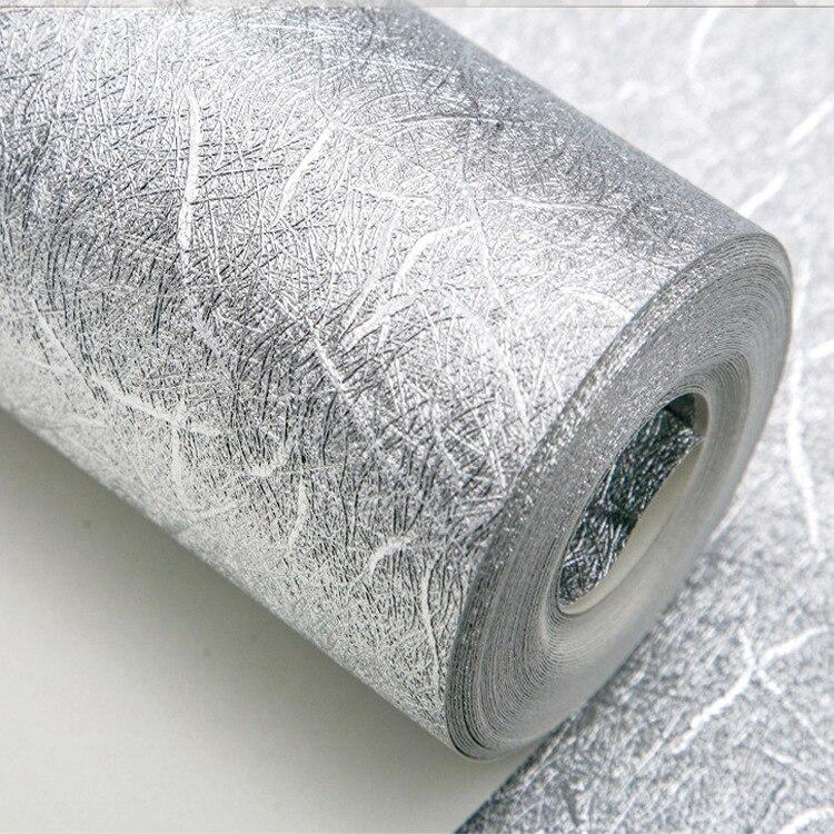 11 yards Or Feuille D'argent Papier Peint Épais Étanche Pvc Autocollants Papier Peint pour Salon Rénovation de Meubles PVC Papier Peint - 2