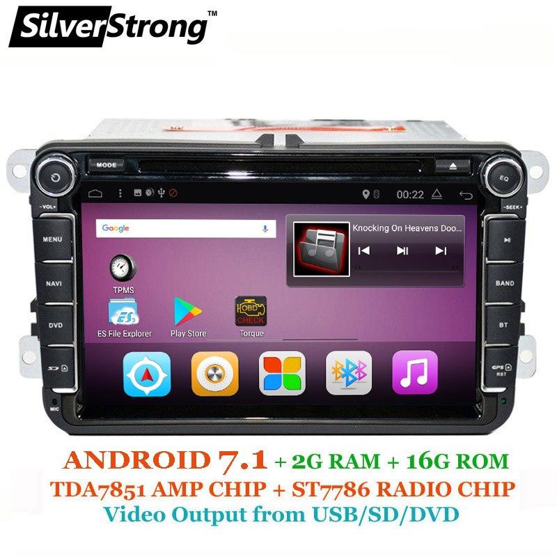 SilverStrong 7.1 Android DVD per Volkswagen PASSAT B6 B5 GOLF6 JETTA POLO CC TIGUAN OCTAVIA2 DVD GPS 801T3