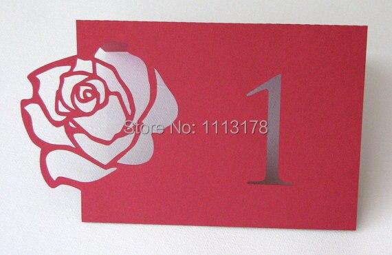 Rosa rossa tabella numero di tabella personalizzata numero di ...