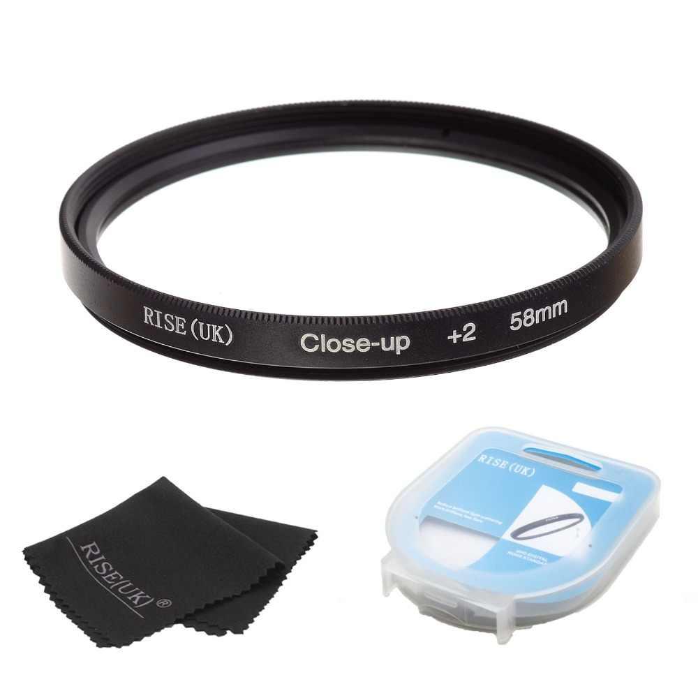 Hot Sale Naik (Inggris) 58 Mm Close-Up + 2 Makro Filter Lensa untuk Nikon Canon SLR DSLR Kamera + Filter Case + hadiah