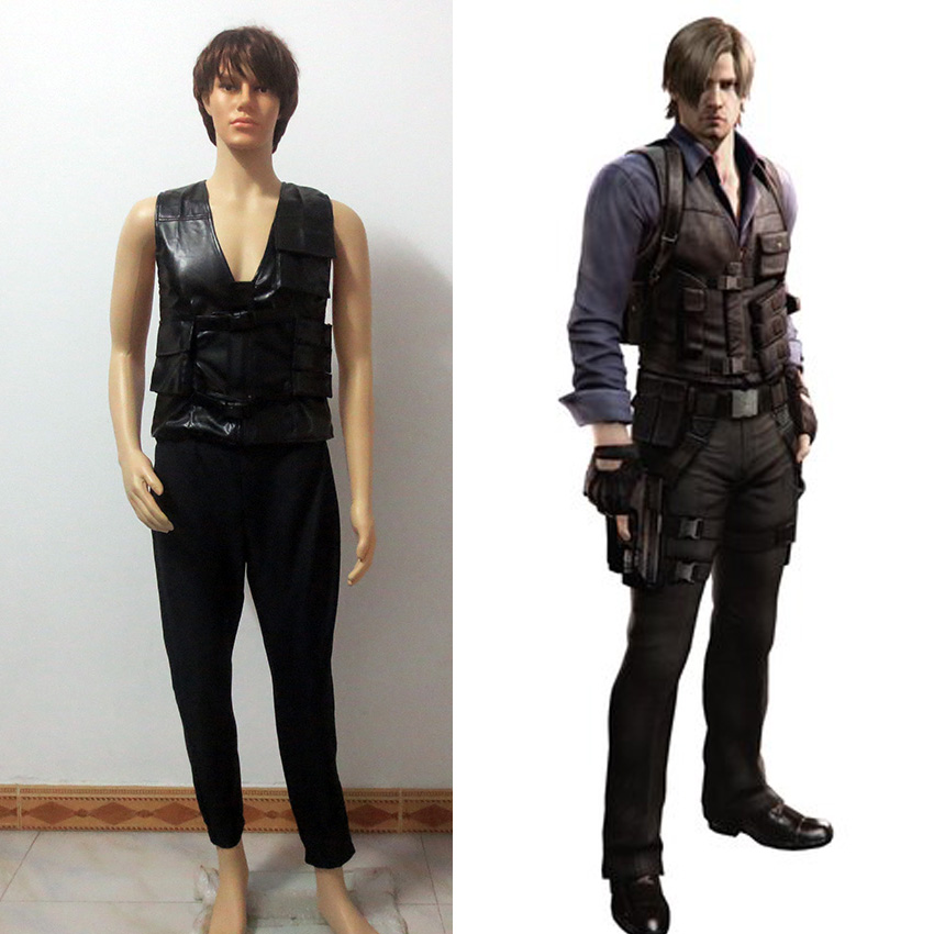 Resident Evil 6 Cosplay Leon Scott Kennedy Vest And Pants Cosplay Costume