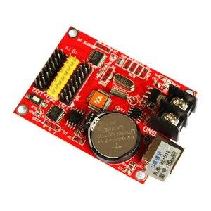 Image 4 - Huidu hd u60 P10 単一色およびデュアルカラー led プログラマブルサインコントローラ、 u ディスク通信デジタル LED 移動看板