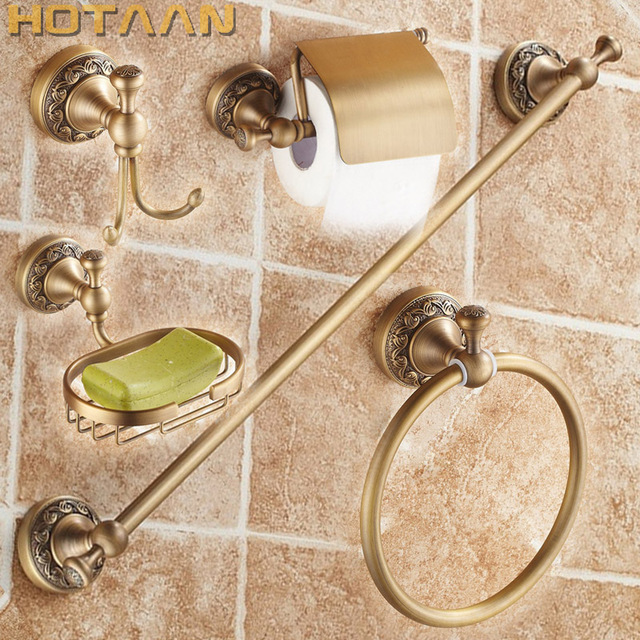 Free shipping,solid brass Bathroom Accessories Set,Robe hook,Paper ...