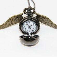 ZRM Модные украшения Античная бронза крылья Поттер пистолет черный снитч карманные часы ожерелье, первоначально поставка фабрики