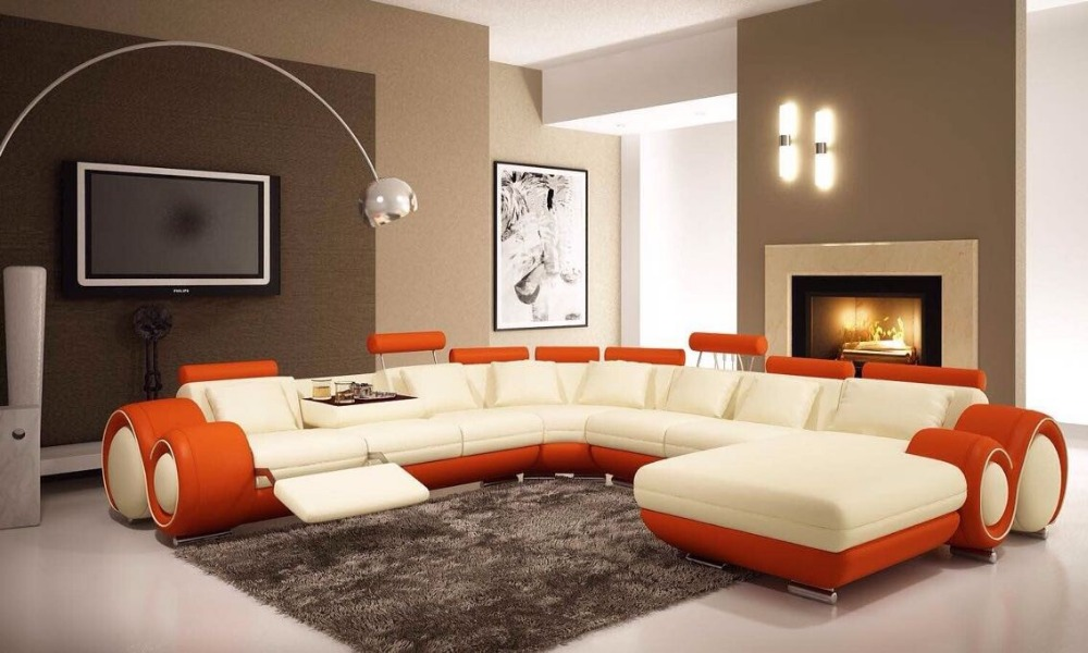 2016 New type Germany modern leather corner sofa set for living room - Popular Furniture Types-Buy Cheap Furniture Types Lots From China