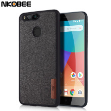 NKOBEE For Xiaomi Mi A1 Case For Xiaomi Mi 5x Cover Original Cotton Cloth Luxury Phone Case For Xiaomi Mi A1 Mi5 X Silicon Case