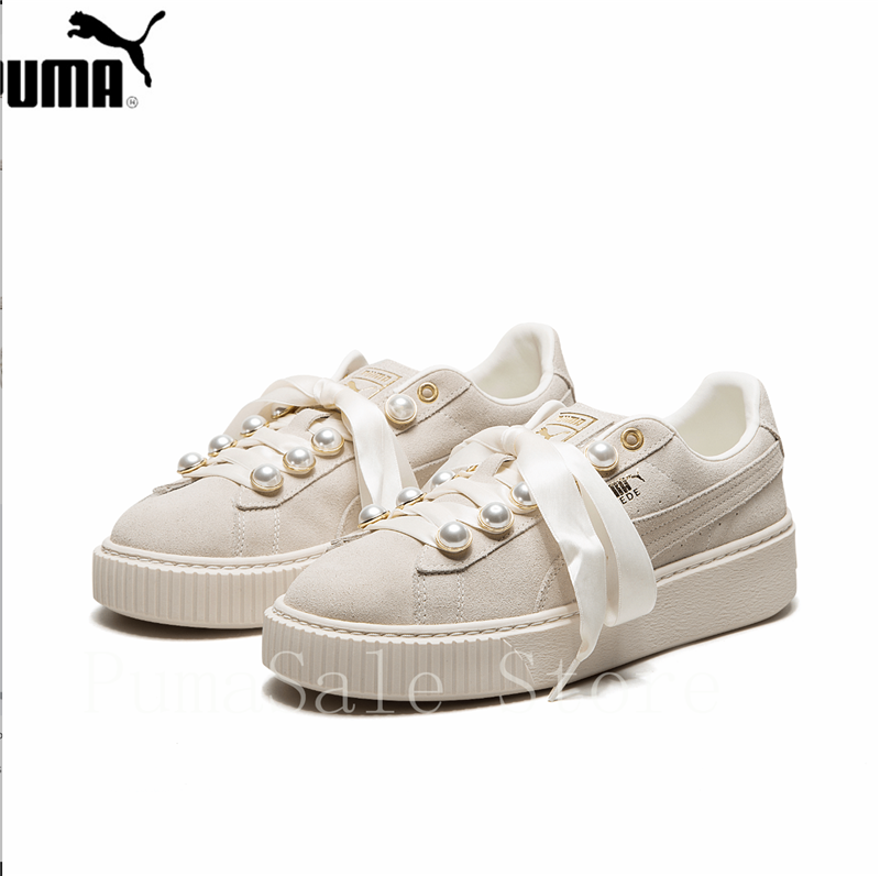 PUMA Suede Platform Bling Womens Sneakers 36668802 New Arrival Rihanna  Pearl Women Sport Badminton Shoes Beige 35.5 40-in Badminton Shoes from  Sports ... 8f61b4615e
