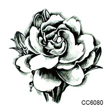 6X6cm Little Cheapest White Flower Peony Designer Temporary Tattoo Sticker Body Art Water Transfer Fake Taty For Face