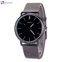 Women Watch Luxury Brand Stainless Steel Metal Mesh Lovers Watches Fashion Analog Quartz Wristwatch Couple Watch