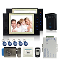 8 INCH LCD video door phone doorbell intercom system access control system Camera video recording +E-lock