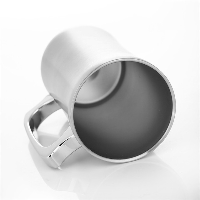 Large Stainless Steel Double Wall Beer Mug