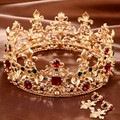 bride accessories hair accessory baroque Large vintage royal wedding married crown accessories