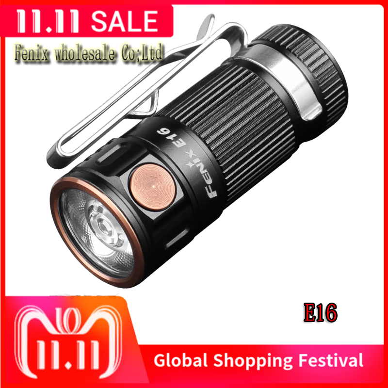 Fenix E16 Cree XP L HI neutral white LED Max 700 Lumens 16340 CR123A EDC flashlight