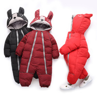Clothes Baby Outwear Boy Girl Thick Warm Duck Down Winter Snow Wear Cute Hooded Clothes Suit Animal Style Romper One Piece