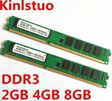 Kinlstuo новые Запечатанные DDR3 1600 мГц/1333 мГц/1066 мГц/PC3 12800/10600/8500 8 ГБ/4 ГБ/2 ГБ/1 ГБ для рабочего стола Оперативная память памяти Бесплатная доставка!