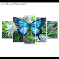 5 piece canvas art print painting Modular pictures home decor modern flower butterfly Movie poster Child room decoration Nordic