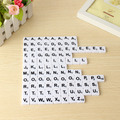 Wholesale 99pcs Plastic Scrabble Tiles English Letters Numbers Black/White Font Toy For Kids