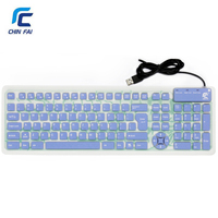 Chinfai KB 3110 107 Keys Foldable Silicone Flexible USB Keyboard Waterproof Business Mute Mini Portable Silicone