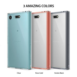 Image 2 - Ringke Fusion Case for Sony Xperia XZ1 Compact Transparent PC Back TPU Bumper Built in Dust Plug Drop Resistance Hybrid Cases