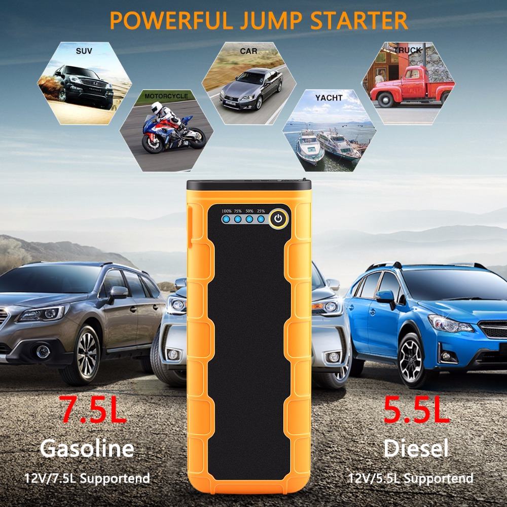 Image 2 - 20800mAh Car Jump Starter 1000A Portable 12V External Car Battery Multi function Vehicle Emergency Battery Booster Power Bank-in Jump Starter from Automobiles & Motorcycles