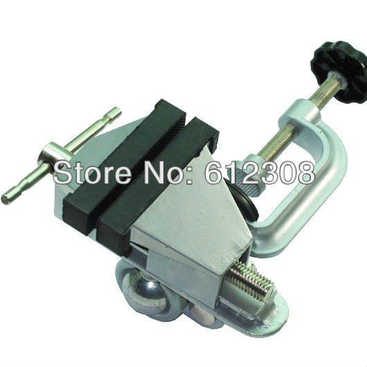 Big Size Adjustable Aluminium Alloy Table Desk Bench Vise Vice Jaws Clamp Stand Holder Station Gadget