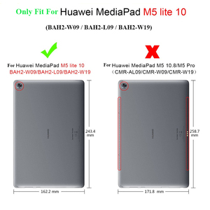 """Image 5 - Luxury Stand Case For Huawei MediaPad M5 lite 10 BAH2 W19/L09/W09 10.1"""" Tablet Cover With Hand Belt For Huawei M5 Lite 10 Case"""