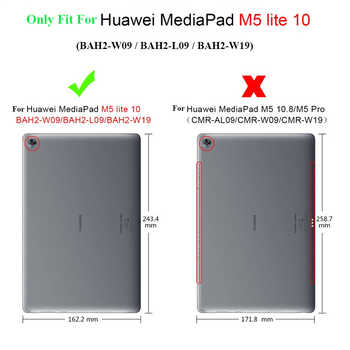 """Luxury Stand Case For Huawei MediaPad M5 lite 10 BAH2-W19/L09/W09 10.1\"""" Tablet Cover With Hand Belt For Huawei M5 Lite 10 Case"""