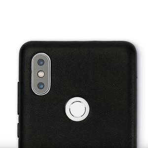 Image 5 - Original Xiaomi Mi Mix 2S case cover Genuine leather PC Mi Mix 2S Back Cover For Xiaomi Mix 2S Case High Quality Luxury Black