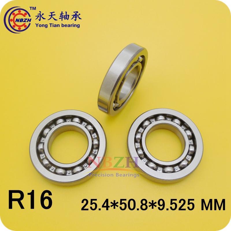 R16K R16 open 1 x 2 x 3/8 english inch Bearing Miniature Ball Radial Bearings EE9  25.4*50.8*9.525 ABEC-5 1pcs 71901 71901cd p4 7901 12x24x6 mochu thin walled miniature angular contact bearings speed spindle bearings cnc abec 7