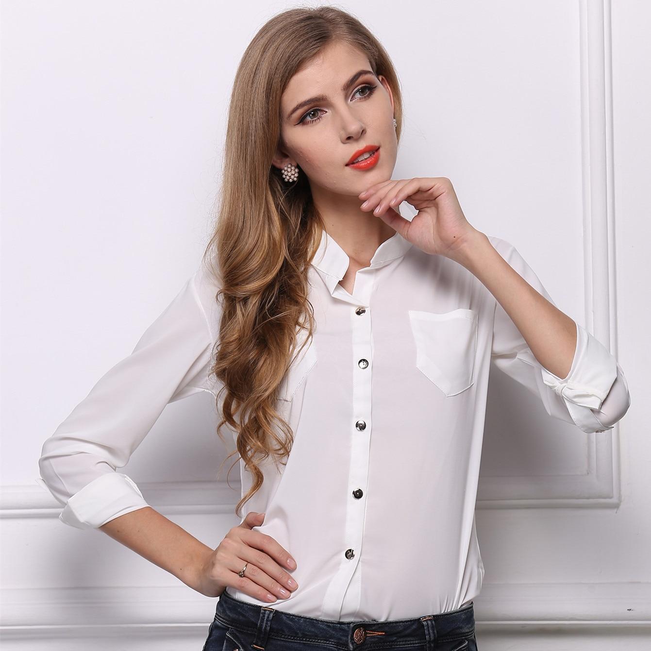 Белые деловые блузки