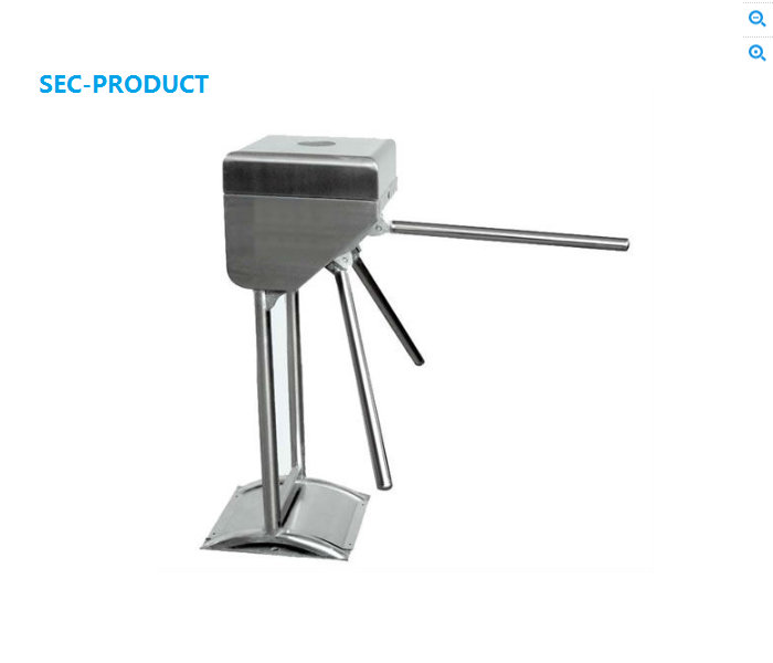 Electronic Automatic Vetical Tripod Turnstile With Interface RS485 For Door Access Control automatic tripod turnstile with built in electronics and 2 readers remote control panel for access control system
