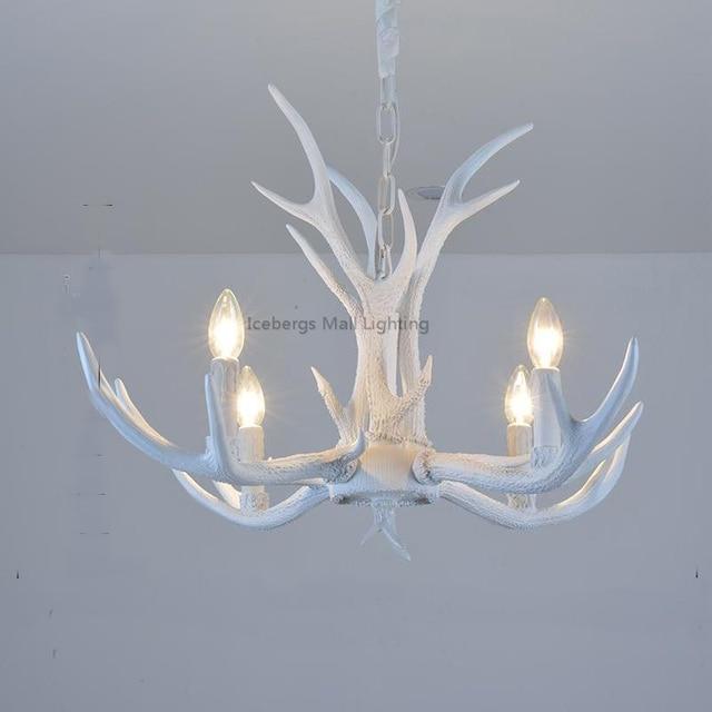 Modern white resin antler chandelier lighting novelty lustre for modern white resin antler chandelier lighting novelty lustre for dining room living room europe avize luminaire aloadofball Choice Image