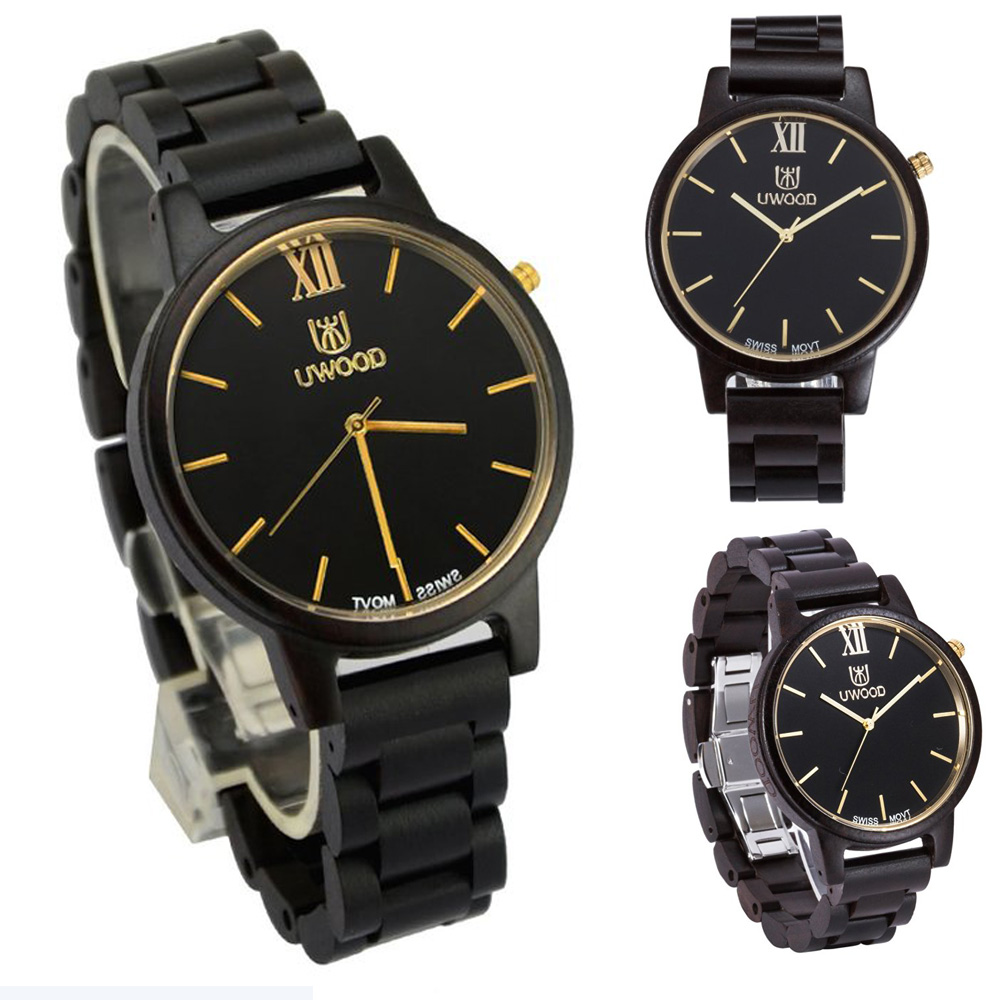 2017 New Top Luxury Brand Black Sandal Wood Analog Men`s Watch Casual Wooden Wristwatch Handmade Natural Wood Men Quartz Watches fashion casual style mens dress wooden wristwatch for men watch wood top brand luxury antique wooden sandal men s quartz watches