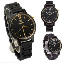 2017 New Top Luxury Brand Black Sandal Wood Analog Men s Watch Casual Wooden Wristwatch Handmade