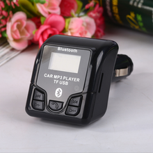 New QSS-50 Bluetooth Player Car MP3 FM Transmitter Kit Cigarette Lighter Audio MP3 USB Charger Phone Handsfree