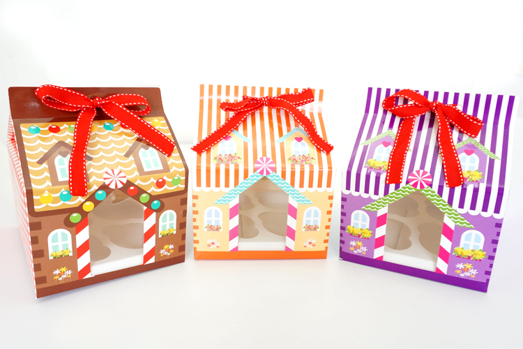 online shop christmas 4 hole cupcake box cupcake packaging box cake carry holder open window with ribbon aliexpress mobile