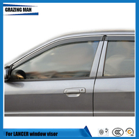 Sun visor Car accessories Window Visor Vent Shades Sun Rain Deflector Guard 4PCS/SET for LANCER|Awnings & Shelters| |  -