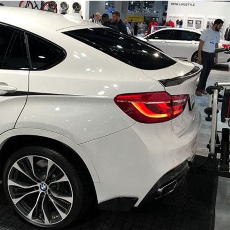 For BMW X6 E71 Ændret M-Perform Style Fiberglas Primer Bag bagagerum Spoiler Car Wing 2008 ~ 2013