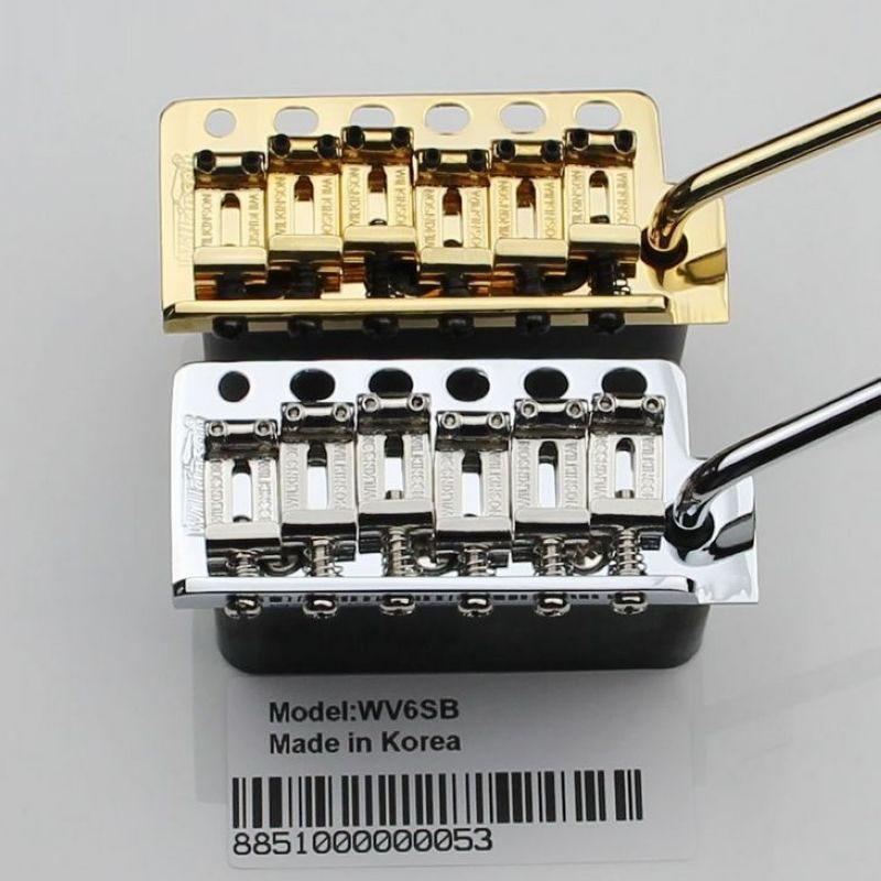 Wilkinson WV6SB Tremolo Bridge STEEL BLOCK Vintage STEEL SADDLE From Korea in Chrome Gold