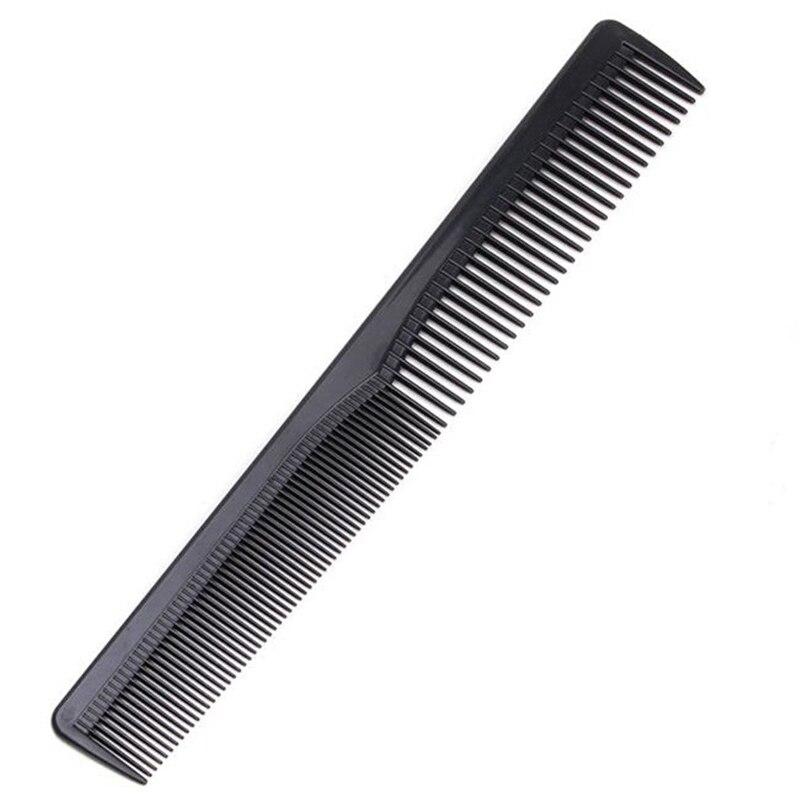 New Men Women Salon Black Plastic Cutting Hair Tooth Comb Barber Tool Hairdressing Hair Brush FM88