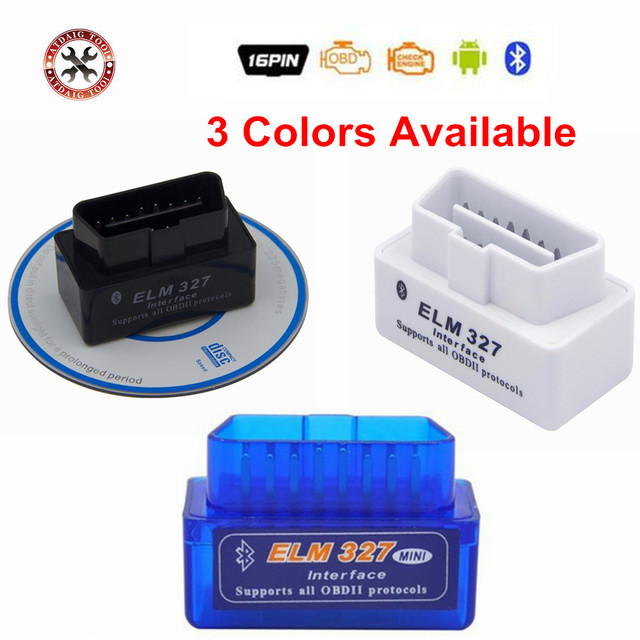 2018 New OBD V2.1 mini ELM327 OBD2 Bluetooth Auto Scanner OBDII 2 Car ELM 327 Tester Diagnostic Tool for Android Windows Symbian