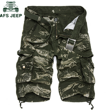 New 2019 Summer Camouflage Military Mens Cargo Shorts Casual Loose Short