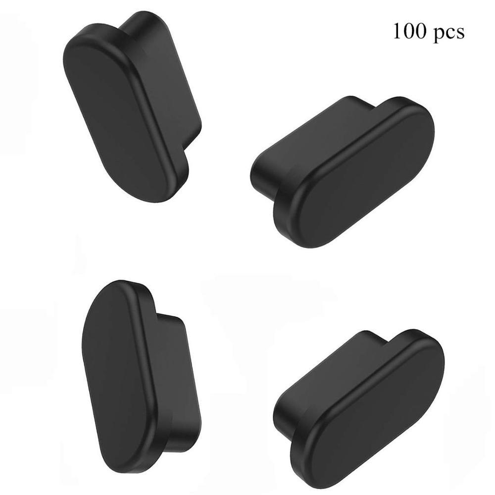 100 pces silicone capa usb 3.1 tipo c porta anti poeira plug protector para smartphone tablet e outros com usb tipo c dispositivos