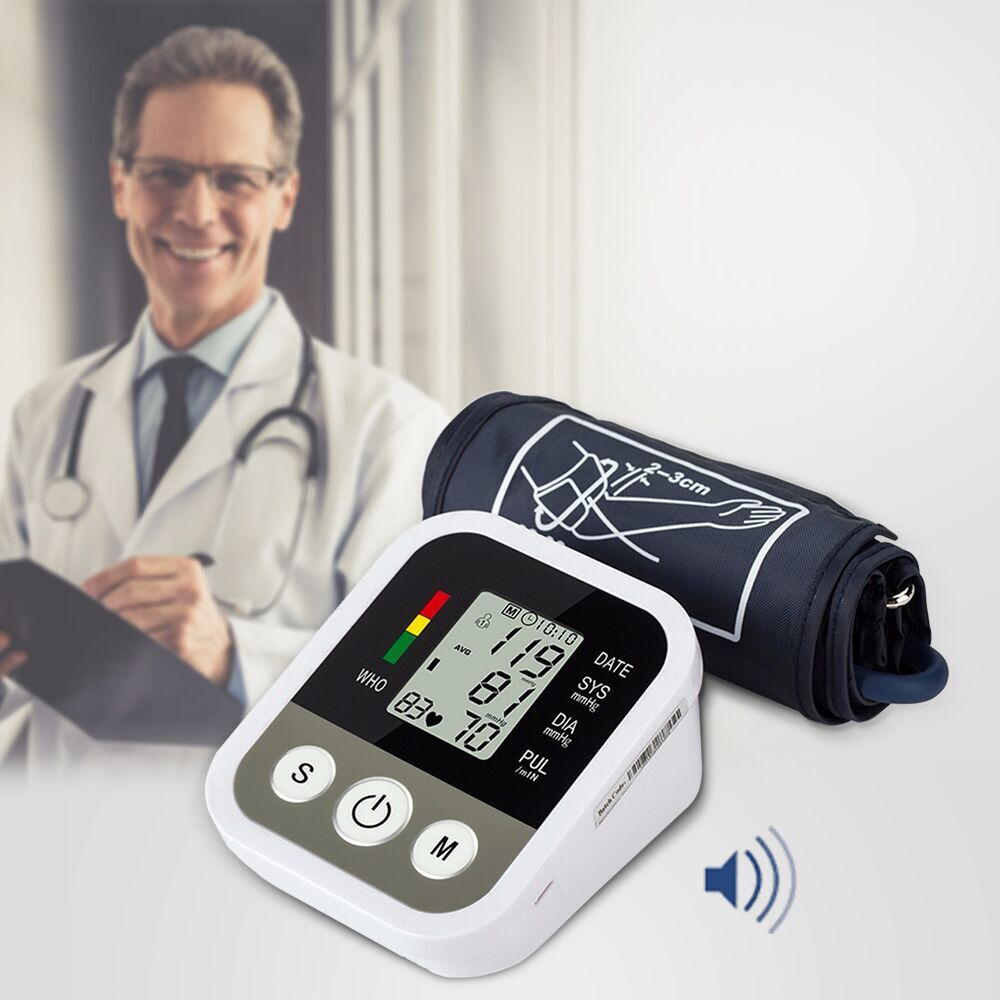 Automatic Digital Arm Blood Pressure Monitor BP Sphygmomanometer Pressure Gauge Meter Tonometer for Measuring Arterial Pressure)Automatic Digital Arm Blood Pressure Monitor BP Sphygmomanometer Pressure Gauge Meter Tonometer for Measuring Arterial Pressure)