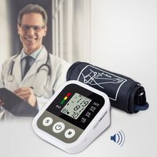 Medical Automatic Upper Arm Blood Pressure Monitor Digital Heart Beat Meter Machine Tonometer Measure Health Care LCD Display abpm50 ce fda approved 24 hours patient monitor ambulatory automatic blood pressure nibp holter with usb cable